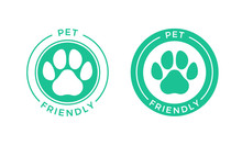 Pet Friendly Logo Icon For Pet...