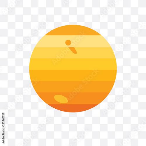 Fotografia  Jupiter vector icon isolated on transparent background, Jupiter logo design