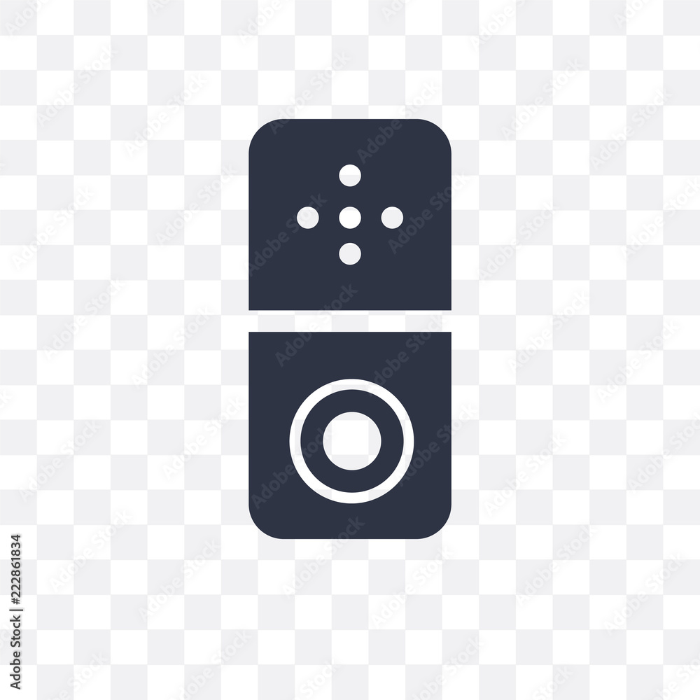 Fotografie, Obraz  Doorbell vector icon isolated on transparent background, Doorbell logo design