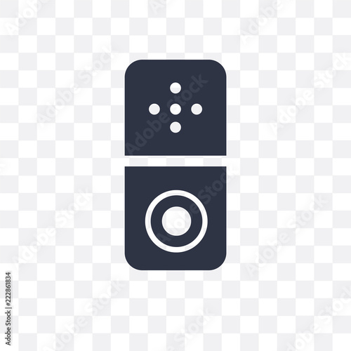 Foto  doorbell icon isolated on transparent background
