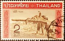 Elephant At Work On Thai Posta...