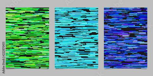Valokuva  Abstract irregular horizontal stripe design background flyer template set
