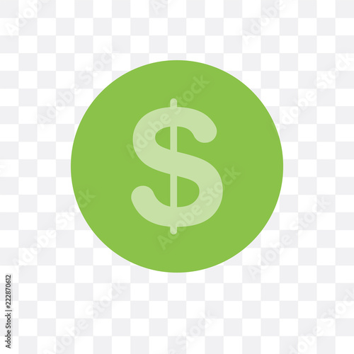 Fotografía  cash icon isolated on transparent background