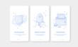 Mobile app intro screens. Application templates concept Vector onboarding illustration flat design