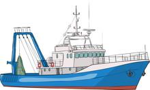 Vector. Fishing Boat.