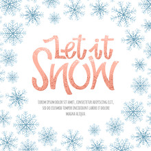 Let It Snow Lettering