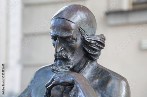 Foto auf Gartenposter Historische denkmal Bronzeskulptur