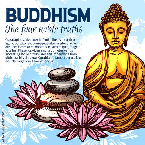 Fotografia  Buddhism religion Buddha and lotus