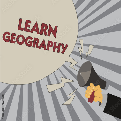 Fotografia  Writing note showing Learn Geography
