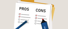 Pros Cons Concept On Decision ...