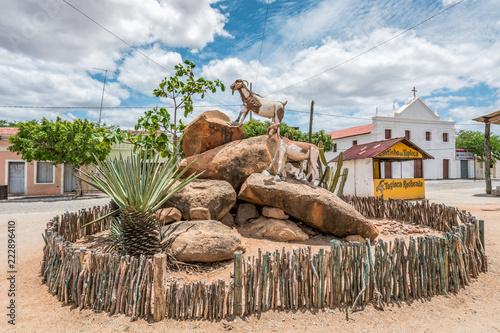 Foto op Aluminium Zalm Cabaceiras, Paraíba, Brazil - February, 2018: town square landscape view