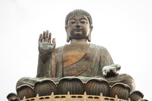 Tian Tan Buddha (the Big Buddha) Is Large Bronze Statue Of A Buddha Amoghasiddhi In Hong Kong.