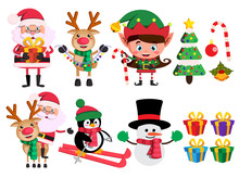 Christmas Characters And Eleme...