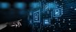 canvas print picture - Document Management Data System Business Internet Technology Concept