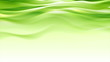 canvas print picture - Green abstract smooth waves modern background