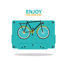 Enjoy Your Day For Happy Car Free Day Etc.