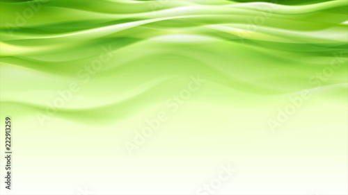 Foto op Aluminium Abstract wave Green abstract smooth waves modern background