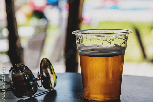 Poster Bier / Cider Sunglasses and beer