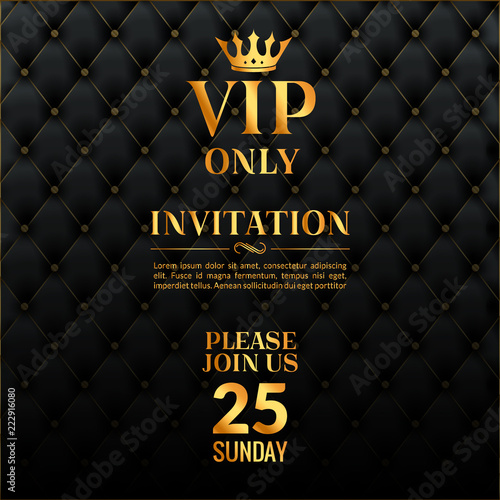Fotografie, Obraz  Vip luxury invitation event