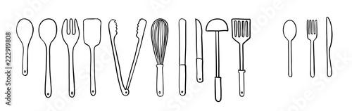 Photo  Utensil illustration in vector