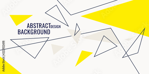 Stampa su Tela  Abstract geometric background with triangles in minimalistic style