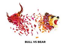 Bull And Bear Symbols On Stock...