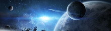 Panoramic View Of Planets In D...