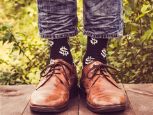 Men's Legs In Stylish Shoes, B...