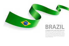 Vector Banner With Brazilian F...