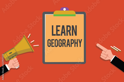 Fotografia  Text sign showing Learn Geography