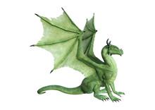 3D Rendering Fantasy Dragon On...