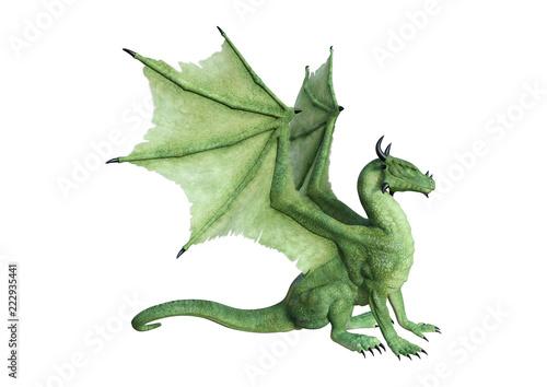 Fototapeta premium 3D Fantasy Fantasy Dragon na białym tle