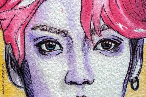 Fototapeta  Beautiful eyes illustration