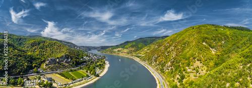 Fotografie, Obraz  Luftbild Oberes Mittelrheintal