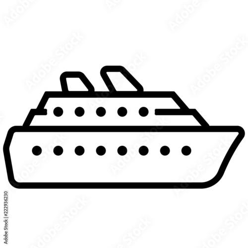 Fotomural  Icon - Kreuzfahrtschiff