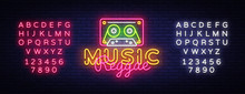 Reggae Music Neon Sign Vector....