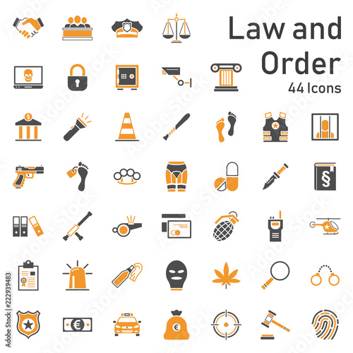 Law & Order - Icons Canvas Print