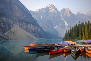 Moreine Lake at sunrise, Banff National Park, Canada