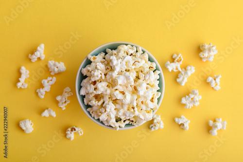 Pop corn in a bowl