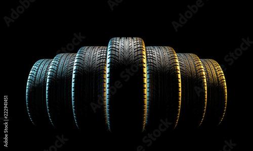 new car tire © tiero
