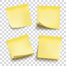 Set Of Yellow Sheets Of Note P...