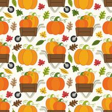 Cute Pumpkin Patch Seamless Pa...