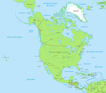 Nordamerika - Landkarte (DE)
