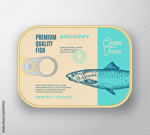 Photo Abstract Vector Fish Aluminium Container with Label Cover