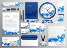 Abstract Blue Business Collate...