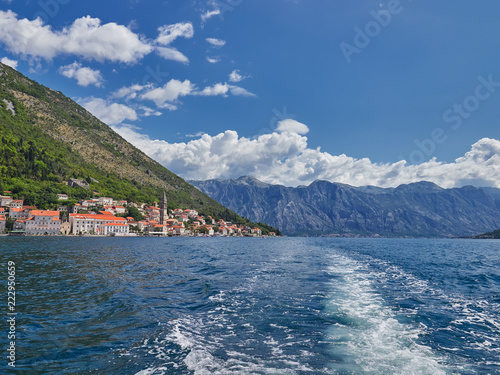 Old city of Perast and Bay of Kotor, Montenegro