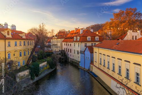 fototapeta na ścianę Kampa Island with Certovka River and Watermill in Old Prague, Czech Republic