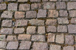 Background / Texture - Old cobblestone pavement surface
