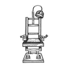 Electric Chair Engraving Vecto...