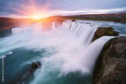 Obraz Godafoss - one of the Iceland waterfalls - fototapety do salonu